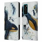 OFFICIAL LAUREN MOSS SEA LEATHER BOOK CASE FOR HUAWEI PHONES