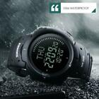 Men Compass Watch Countdown LED Digital Wrist Watches Outdoor Military Black image