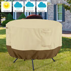 Garden Round Table Cover Furniture Set Outdoor Large Small Waterproof Patio