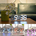 Modern LED Digit Table Wall Clock Large 3D-Display Alarm Clock Brightness Dimmer
