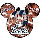 Disney New England Patriots personalized iron on transfer (choice of 1) $3.0 USD on eBay