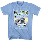 Def Leppard On Through the Night USA Tour 1980 Men's T Shirt Glam Rock Band image