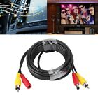 New 5m/15m Copper Car Monitor Analog Camera AV Audio Video Power Cable Wire