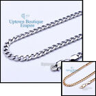 Women Men Stainless Steel Cuban Necklace 3,4,5,6,8,10,12mm Chain Link image