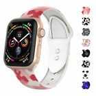 For Apple iWatch Band Series5 4 3 2 1 Silicone Print Strap Replacement Wristband image