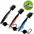 Golf Retractable Stock Cleaning Brush Club Reel With Color Groove Cleaner