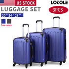 Kyпить 3 Piece Luggage Carry On Set Trolley Suitcase Travel Spinner ABS+PC 20