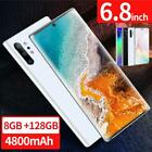 Note10 6.8'' Unlocked Smart Phone 8 128G Android 9.1 HD Dual SIM Mobile 4G