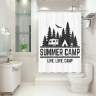 Retro camping 47x64 Inch Shower booth short Shower Curtain Bathroom Fabric