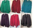 Teal Purple Green Gray Wine Red Button Blouse 2X - 5X 2XWP - 3XWP Shirt Jacket