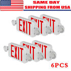 2/4/6 Pack Emergency Lights Red EXIT Sign W/Dual LED Lamp ABS LED Supermarkets