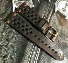 20 21 22 24mm Vintage Italian Genuine Calf Leather Rally Racing watch strap H/M