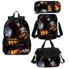 Godzilla Kids Backpack Set Boys School Bag Insulated Lunch Bag Pen Case Lot
