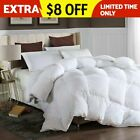 GOOSE DOWN ALTERNATIVE DOUBLE FILLED LUXURY COMFORTER WARM KING QUEEN FULL SIZE image