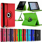 For Apple iPad 10.2 7th Generation 2019 360  Rotating Leather Smart Case Cover
