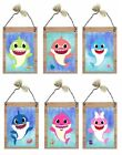 Baby Shark Pictures Daddy Mommy Grama Grampa Bed Bedroom Wall Hangings Plaques