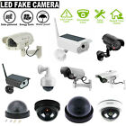Solar Waterproof Outdoor Home Simulation Dummy CCTV Camera w/Flashing Light Lot
