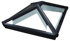 Korniche Roof Lantern Glass Skypod Skylight Black on White Frame  FREE DELIVERY