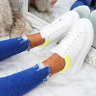 WOMENS LADIES LACE UP SKATE PLIMSOLLS LACE UP SNEAKERS FASHION TRAINERS SHOES