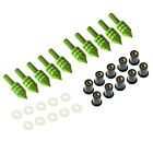 10Pcs M5 Motorcycle Fairing Windscreen Windshield Spike Bolts Washers Screw Nuts photo