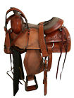 ROPING RANCH WESTERN HEAVY ROPER LEATHER WESTERN HORSE SADDLE 15 16 INCH SEAT
