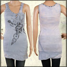 Salvage Amboy Snake Medical Symbol Corset Tie Womens Tank Top Dress Blue XS S M