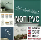 Home Quote Vinyl Wall Stickers Transfer Decal Kitchen Graphic Mural Bathroom Art