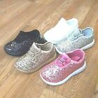 Kyпить Toddler Girls Sneakers Glitter Tennis Sparkly Shoes Size 4-9 New на еВаy.соm