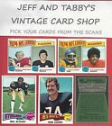 1975 TOPPS FOOTBALL YOU PICK FROM SCANS # 1 TO # 172 $1.0 USD on eBay
