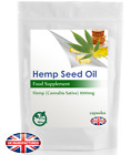 Hemp Seed Oil Capsules 1000mg | High Strength Cold Pressed | FREE UK POSTAGE