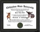 Chihuahua  Lover's Doctorate Diploma / Degree Custom made and Designed for you