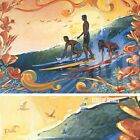 """36W""""x24H"""" LAST WAVE IN by RON CROCI - SURFING OCEAN NATIVE - CHOICES of CANVAS"""
