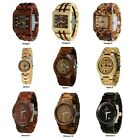 Wooden watch engraving for him & her-wooden wristwatch -Wood watch-Men's watches image