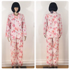 New Womens Mayfair 2 Piece Micro Fleece Pajama Set Floral Choose Size Great Gift