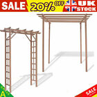 WPC Rose Arch Pergola  Climbing Plan with Flat Top  Brown Wood plastic composite