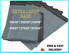 NEW EXTRA LARGE SIZE GREY MAILING POSTAL POLY PACKING PLASTIC BAGS 12X16
