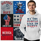 Patriotic Hooded Graphic Sweatshirt For Men Women American Flag Pullover Hoodie