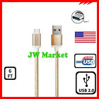 USB-C Cable Type-C Fast Charging Data Sync Charger For Samsung S8 S9 S10 LG