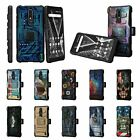 For Nokia 3.1 Plus / Nokia X3 Rugged Armor Hybrid Stand Holster Belt Clip Case