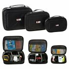 BUBM Portable Travel Digital Storage Data Cable Charger USB Organizer Black Bag