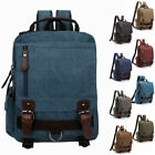 Men's Canvas Convertible Small Mini Backpack Rucksack Chest Pack Sling Bag