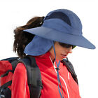 Fishing Hats UV Sun Protection Unisex Wide Brim Boonie Hat Removable Neck Flap