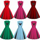 Women's Vintage Retro Swing Rockabilly Dress Ladies 1950s 60s Evening Party Prom