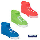 Ancol Squeaky Shoe Trainer Vinyl Dog Puppy Toy Converse Style Red Green or Blue
