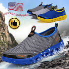 Men Big Size Quick-dry Mesh Water Shoes Slip On Lightweight Casual Walk Sneakers