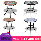 Modern Mosaic Table Coffee Table for Balcony Outdoor Garden Patio Multi-size UK