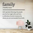 Family Definition Wall Art Decals Stickers Living Room Bedroom Decoration Quote