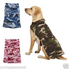 Casual Canine Dog Barn Coat Leash Hole - Camo 2 Straps Repels Wind Water