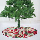 Christmas Tree Skirt  Claus Base Cover Flower Xmas Carpet Party Decor Ornament