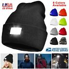 5 LED Light Cap Hat Winter Warm Beanie Hunting Head Lamp Camping Work Mechanic
